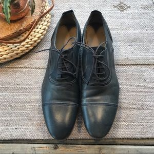 Zara Man navy blue leather oxford derby size 41/ 8